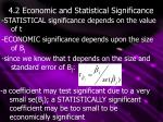4 2 economic and statistical significance