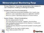 meteorological monitoring reqs