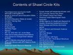 contents of shawl circle kits
