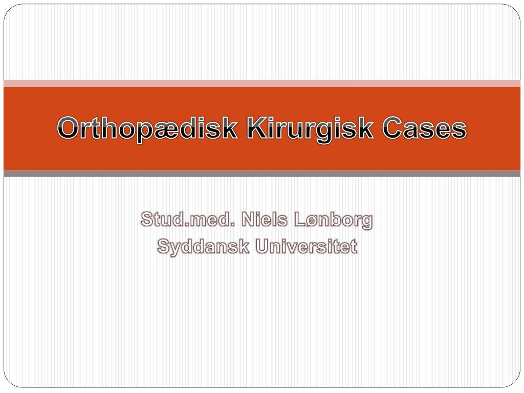 orthop disk kirurgisk cases l.