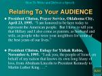 relating to your audience9