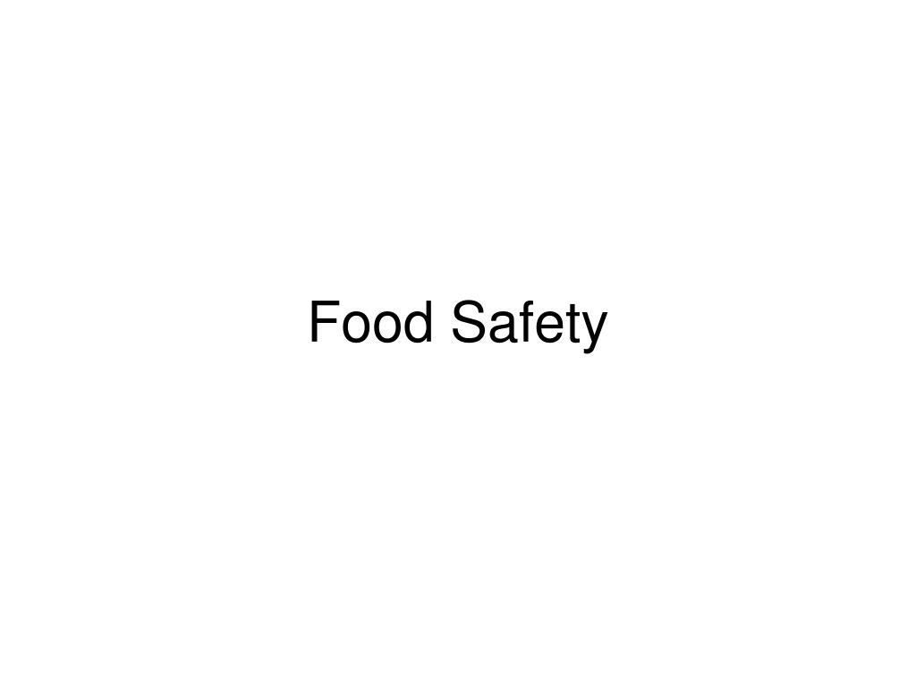 food safety l.
