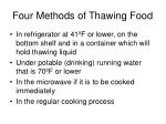 four methods of thawing food