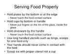 serving food properly