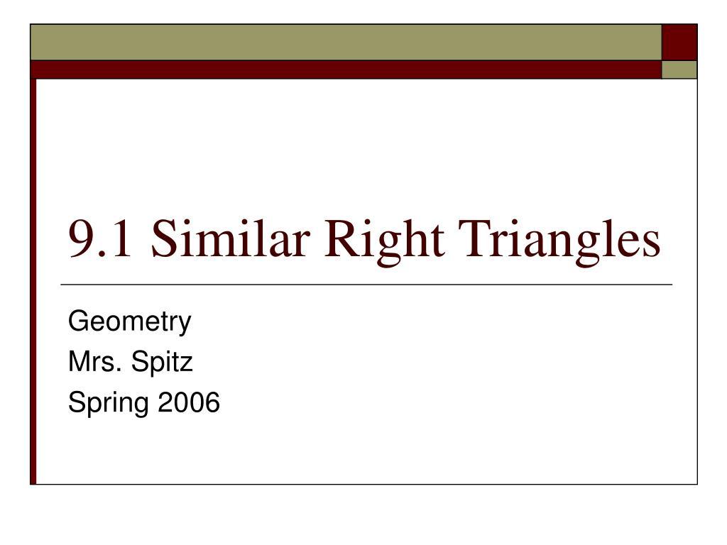 9 1 similar right triangles l.