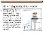 ex 3 using indirect measurement