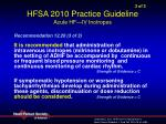 3 of 3 hfsa 2010 practice guideline acute hf iv inotropes