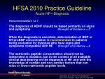 hfsa 2010 practice guideline acute hf diagnosis