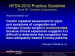 hfsa 2010 practice guideline acute hf diuretics assessment