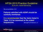 hfsa 2010 practice guideline acute hf patient monitoring