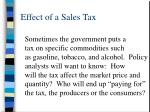 effect of a sales tax