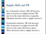 supply shift and tr