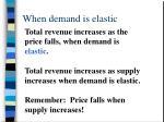 when demand is elastic