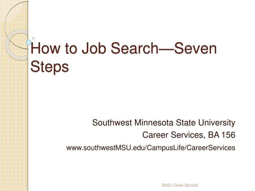 how to job search seven steps l.