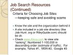 job search resources continued9