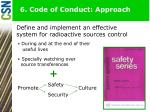 6 code of conduct approach