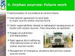 9 orphan sources future work