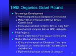 1998 organics grant round