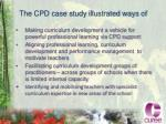 the cpd case study illustrated ways of