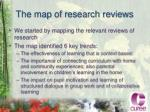 the map of research reviews