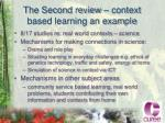 the second review context based learning an example