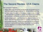 the second review qca claims