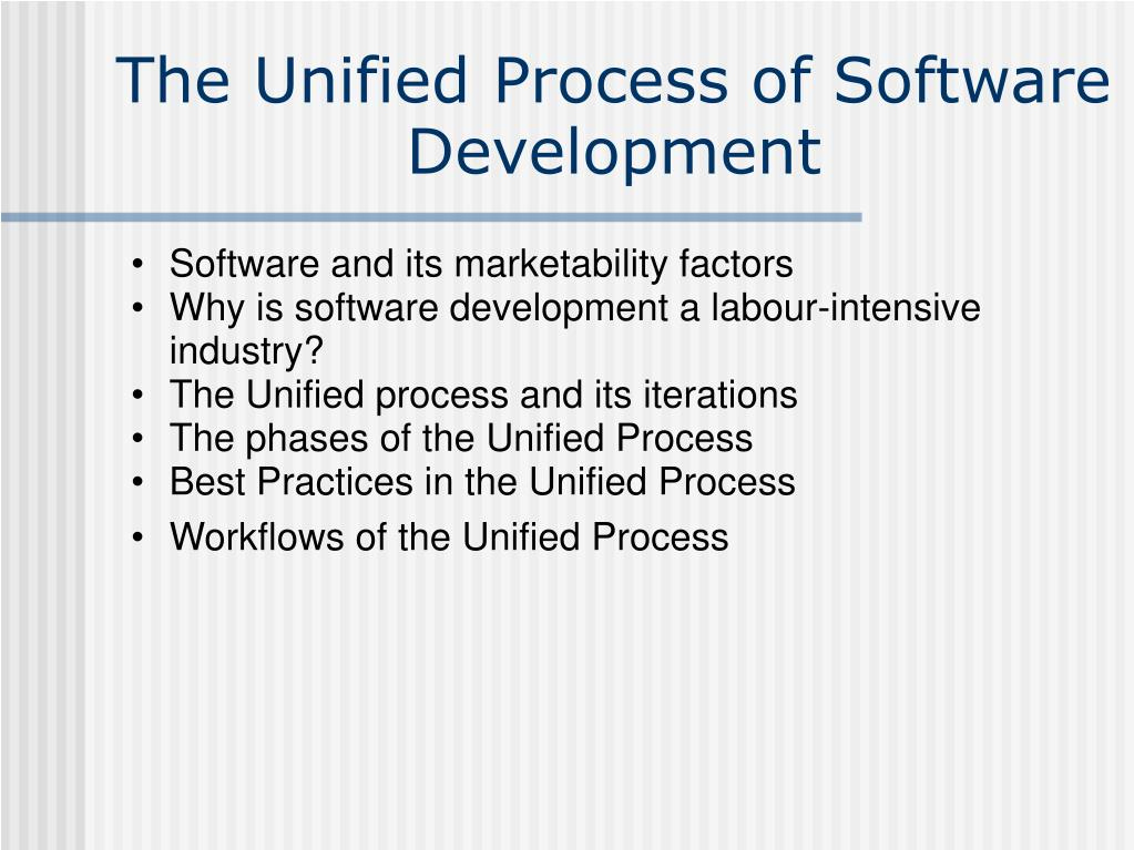the unified process of software development l.