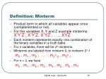 definition minterm