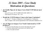 22 june 2005 case study motivation questions