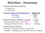 wind shear terminology