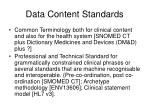 data content standards