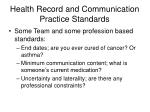health record and communication practice standards24