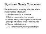 significant safety component
