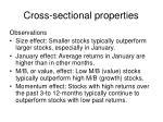 cross sectional properties
