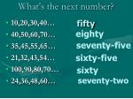 what s the next number