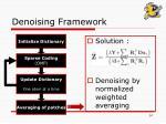 denoising framework14