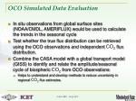 oco simulated data evaluation