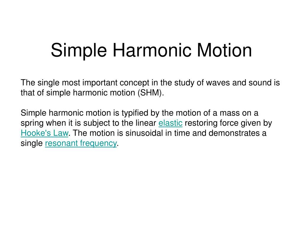 simple harmonic motion l.