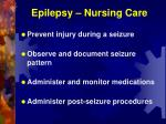 epilepsy nursing care