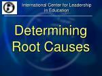 determining root causes