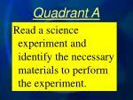 quadrant a