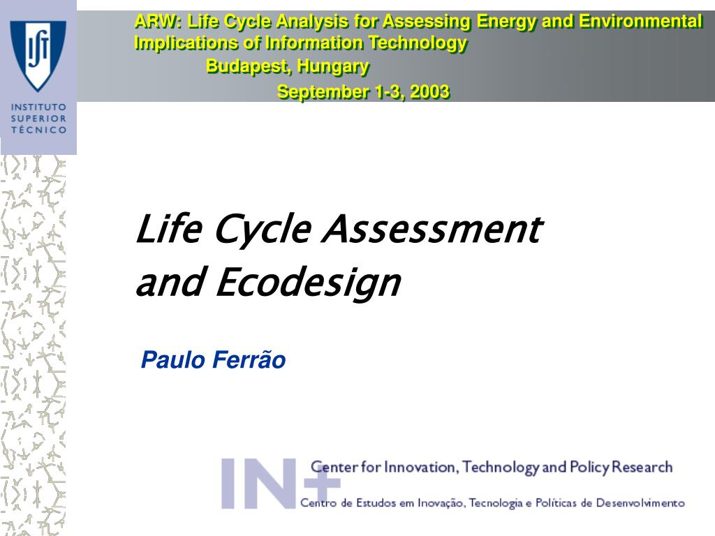life cycle assessment and ecodesign l.