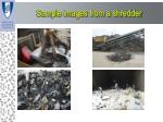 sample images from a shredder