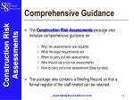 comprehensive guidance
