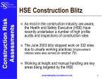 hse construction blitz
