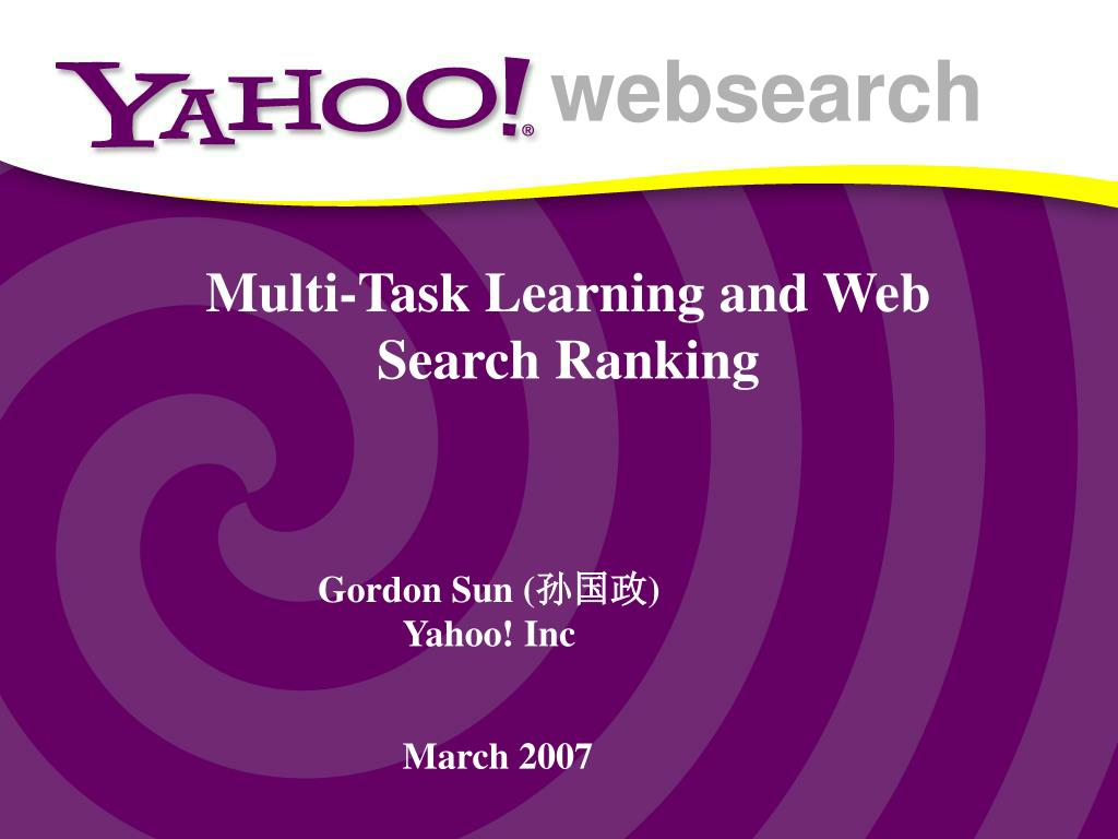 multi task learning and web search ranking l.