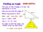 finding an angle