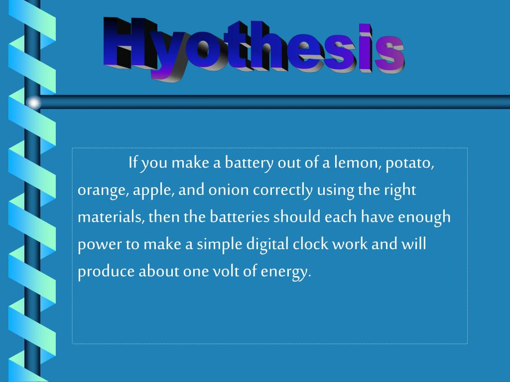 Hyothesis