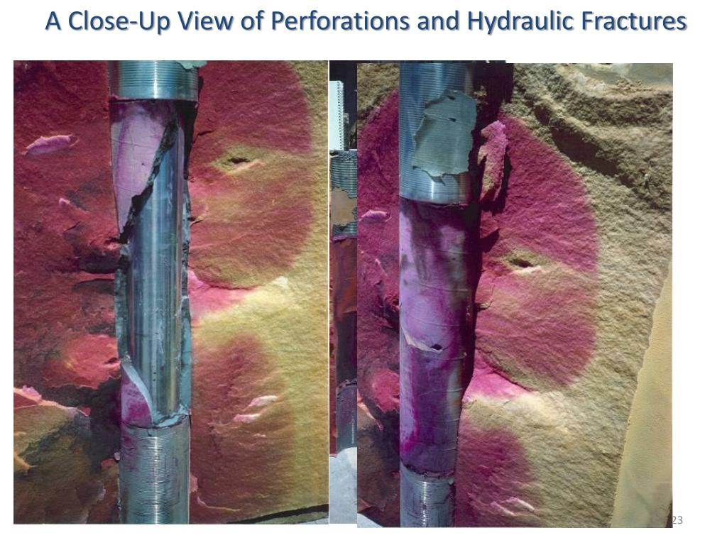 A Close-Up View of Perforations and Hydraulic Fractures