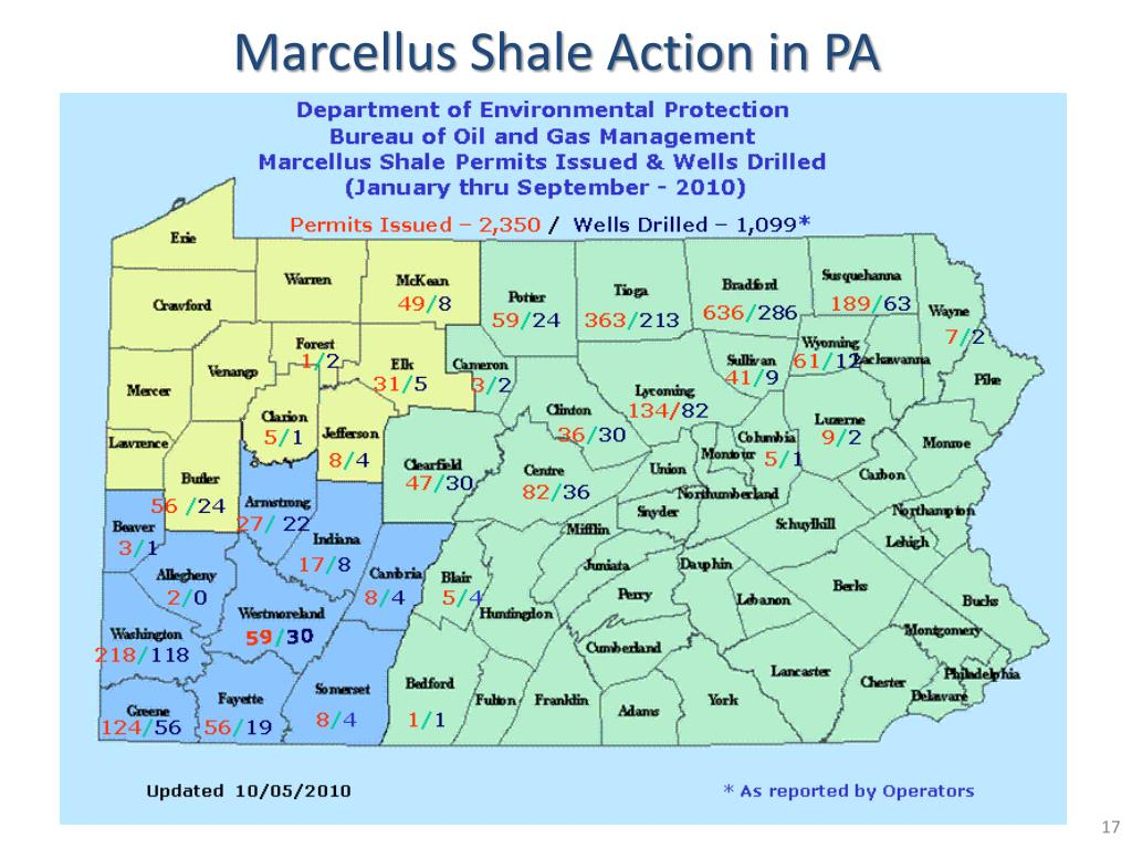 Marcellus Shale Action in PA
